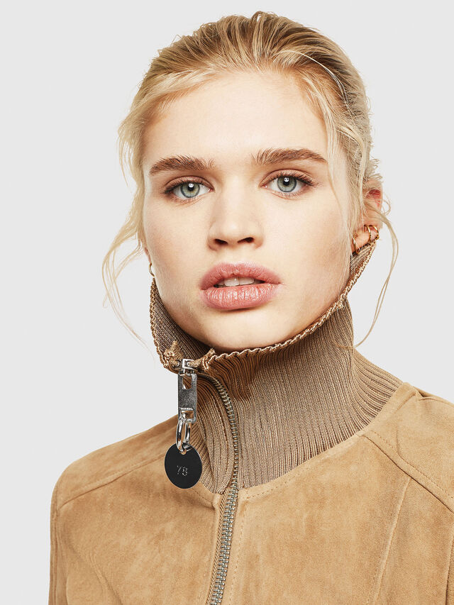 Diesel - L-LYS-A, Camel - Leather jackets - Image 3
