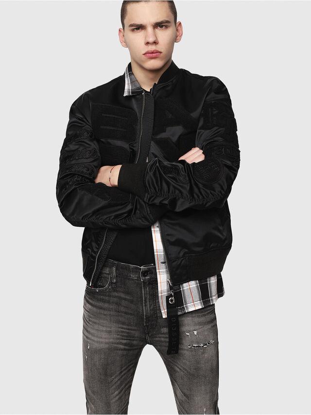 Diesel - D-Reeft JoggJeans 0077S, Black/Dark grey - Jeans - Image 3