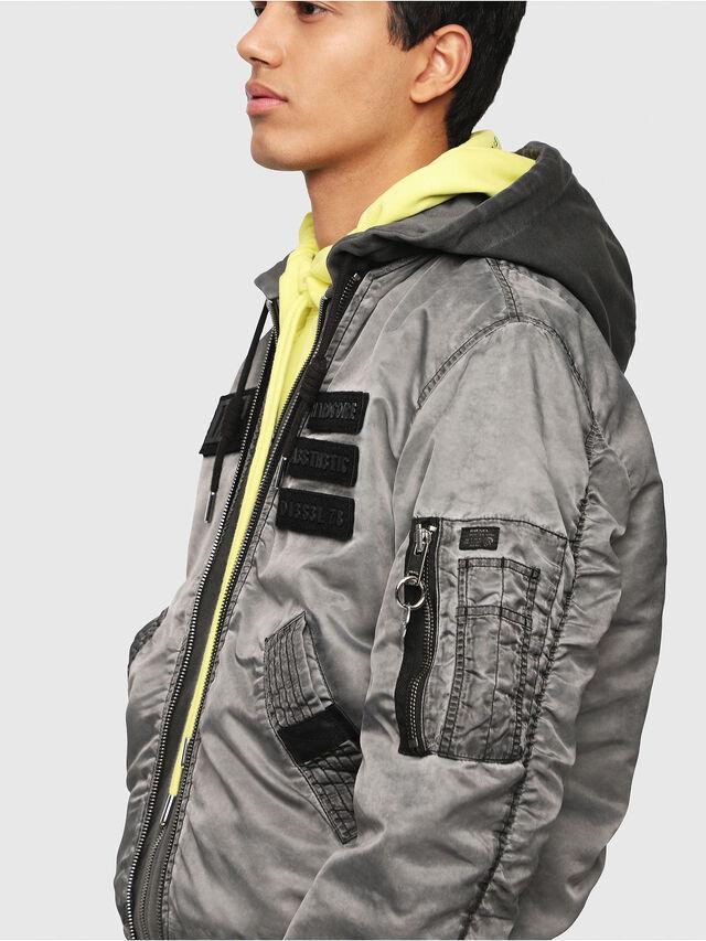 Diesel - J-KUNIO, Gray/Black - Jackets - Image 3