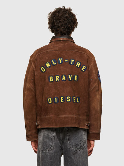 Diesel - DxD-3, Brown - Leather jackets - Image 4
