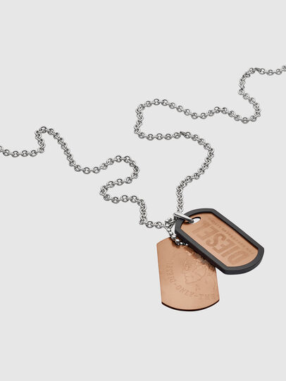 Diesel - NECKLACE DX1096, Bronze - Necklaces - Image 2