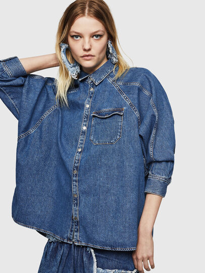 Diesel - DE-NOVA, Medium blue - Denim Shirts - Image 1