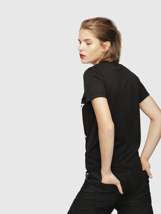 Diesel - T-SILY-ZA, Black - T-Shirts - Image 2