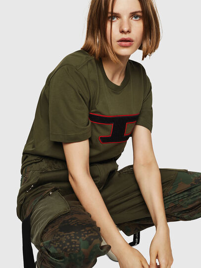 Diesel - T-JUST-DIVISION-D-FL, Military Green - T-Shirts - Image 4