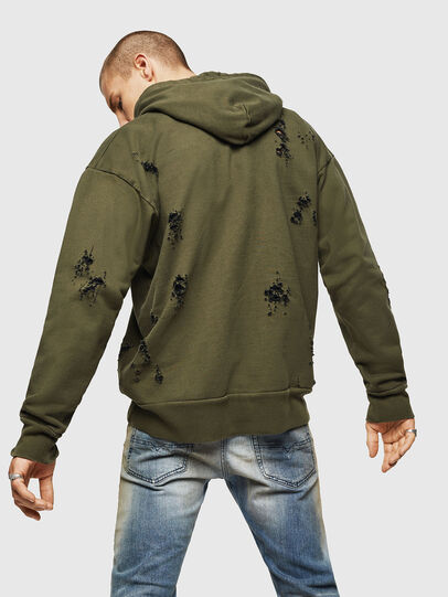 Diesel - S-ALBY-RIP, Military Green - Sweaters - Image 2