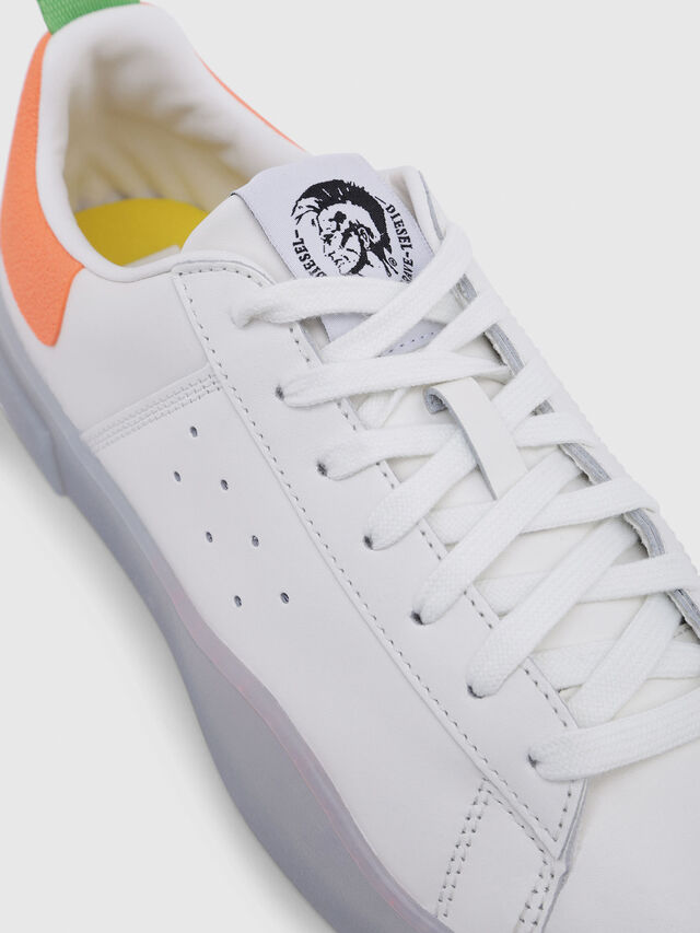 Diesel - S-CLEVER LOW, White/Orange - Sneakers - Image 4