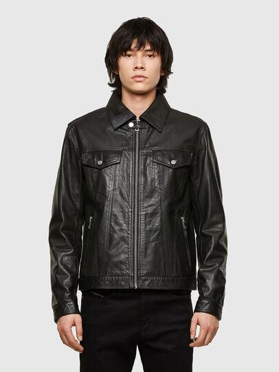 Diesel - L-PAD, Black - Leather jackets - Image 1