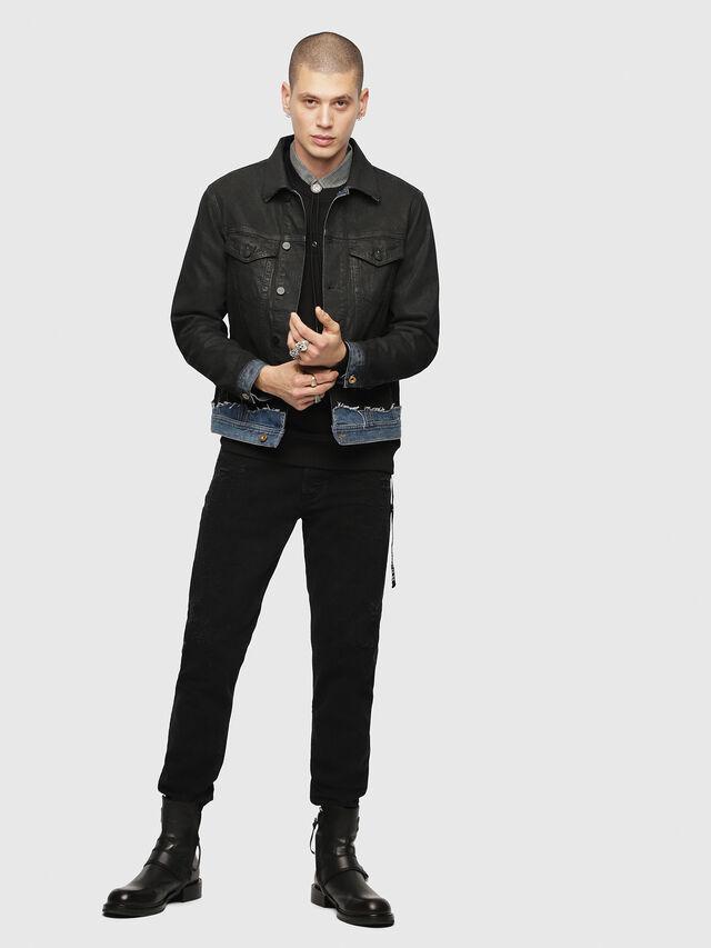 Diesel - D-CADY, Black/Blue - Denim Jackets - Image 5