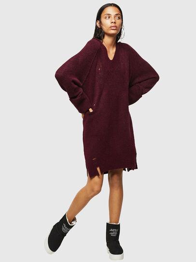 Diesel - M-NOELIA, Burgundy - Knitwear - Image 6