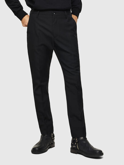 Diesel - P-JARED-WOOL, Black - Pants - Image 1