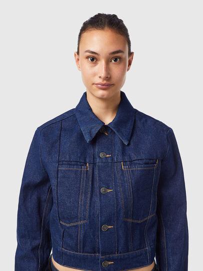 Diesel - DE-LUCYSHORT-SP, Blue - Denim Jackets - Image 3