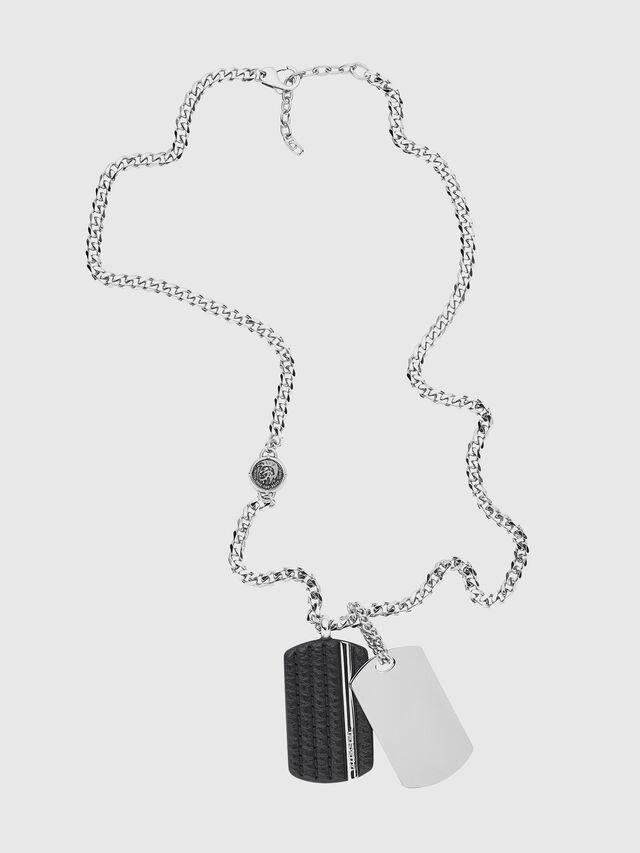 Diesel - NECKLACE DX1040, Silver - Necklaces - Image 1