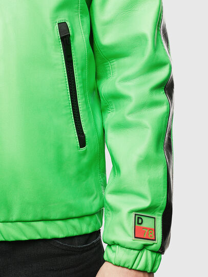 Diesel - L-CARRSY, Green Fluo - Leather jackets - Image 6