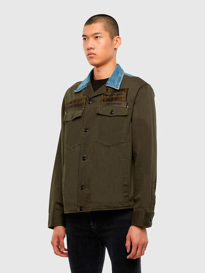 Diesel - S-COVIL, Military Green - Shirts - Image 4
