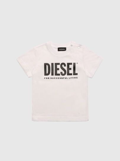 Diesel - TJUSTLOGOB, White - T-shirts and Tops - Image 1