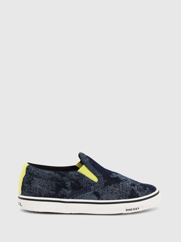 SN SLIP ON 01 LC CH, Blue - Footwear
