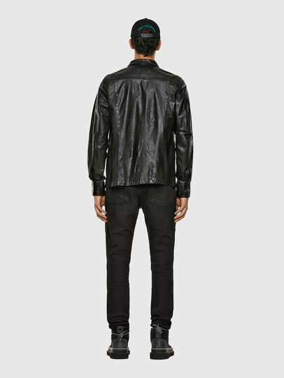 Diesel - L-MALIK, Black - Leather jackets - Image 6
