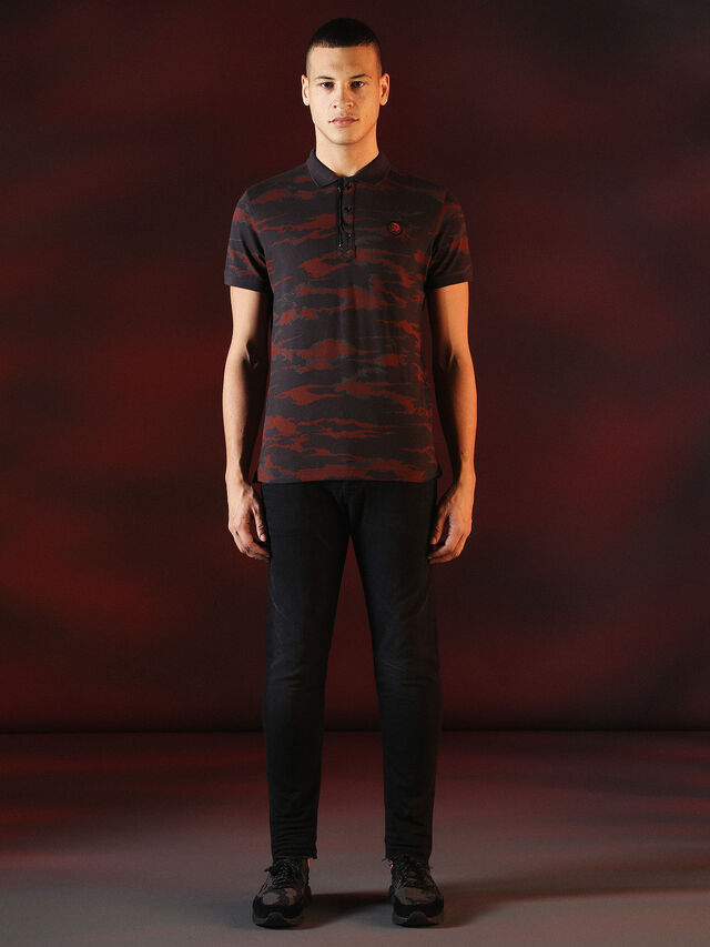 Diesel - DVL-POLO-SPECIAL COLLECTION, Red/Black - Polos - Image 4