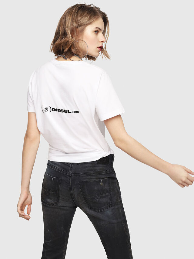 Diesel - CL-T-GADIE, White - T-Shirts - Image 4