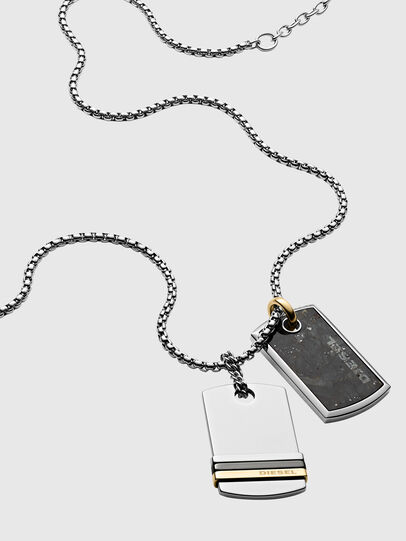 Diesel - DX1189, Silver - Necklaces - Image 2