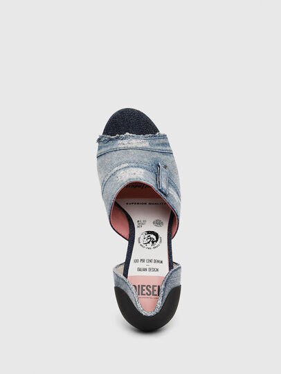 Diesel - SA-SLANTY OTD, Blue Jeans - Sandals - Image 5