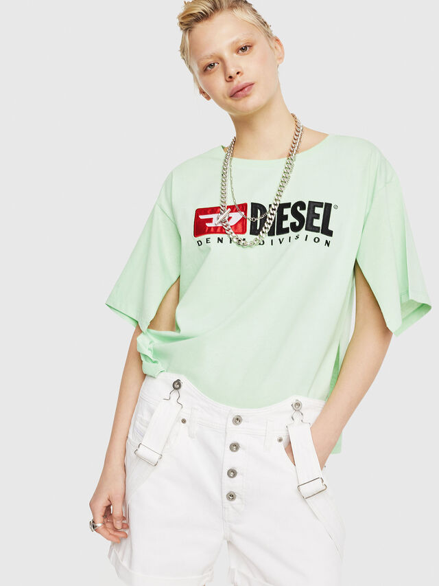 Diesel - T-JACKY-D, Green Fluo - T-Shirts - Image 1