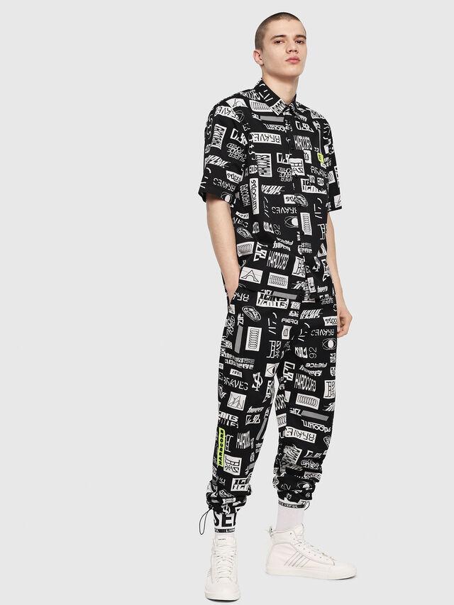Diesel - S-FRY, Black/White - Shirts - Image 4