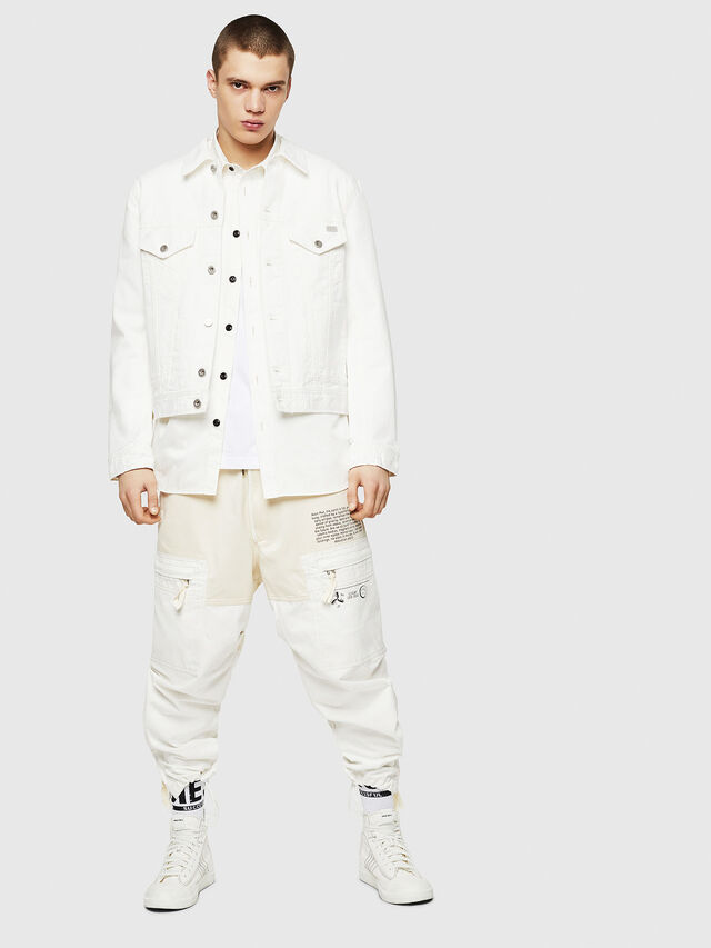 Diesel - D-BRAY, White - Denim Jackets - Image 5