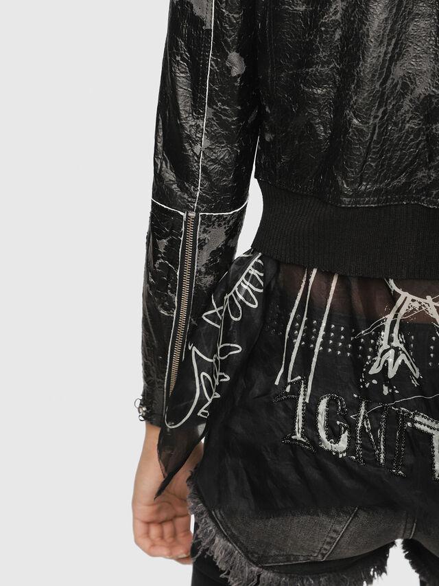 Diesel - L-LYSSA-D, Black - Leather jackets - Image 4