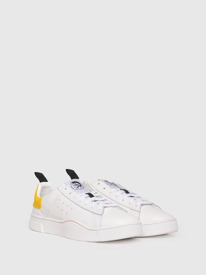 Diesel - S-CLEVER LOW, White/Yellow - Sneakers - Image 2