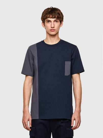 Diesel - T-RISEN-B1, Dark Blue - T-Shirts - Image 1