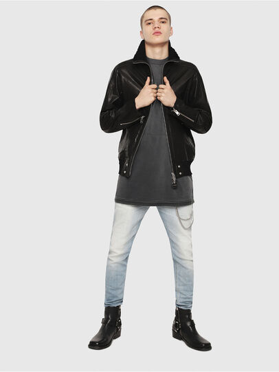 Diesel - L-LYSSEN,  - Leather jackets - Image 5