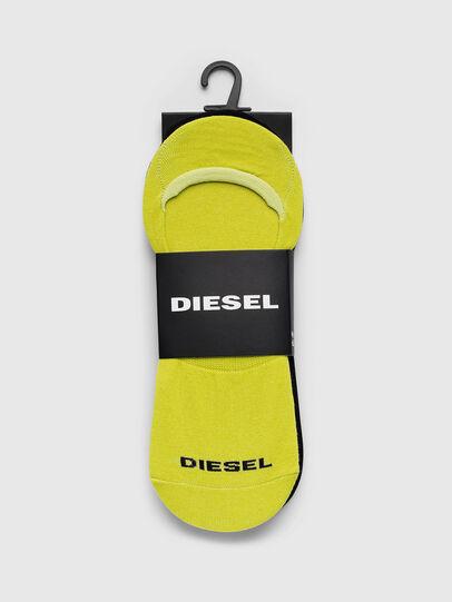 Diesel - SKM-NOSHOW-TWOPACK, Black/Yellow - Socks - Image 2