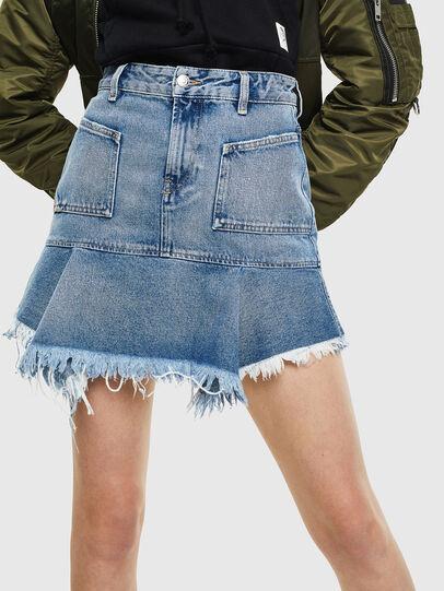Diesel - DE-BRYX, Light Blue - Skirts - Image 1