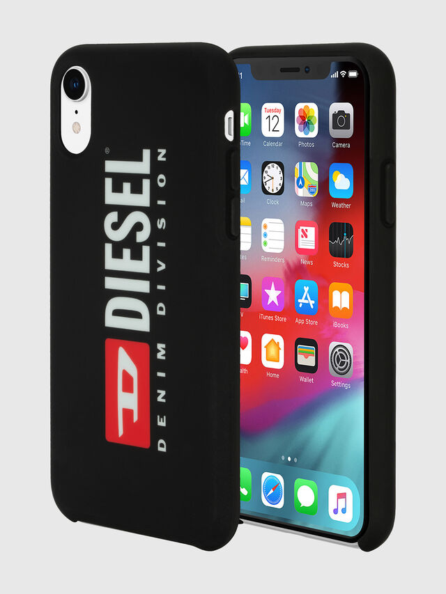 Diesel - DIESEL PRINTED CO-MOLD CASE FOR IPHONE XR, Black/White - Cases - Image 1