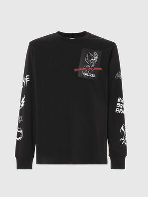 T-JUST-LS-A9, Black - T-Shirts
