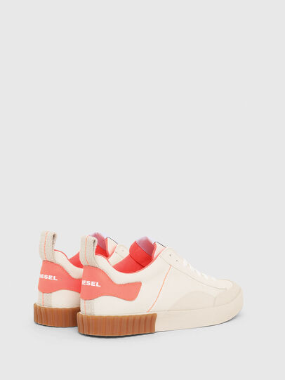 Diesel - S-BULLY LC W, White/Pink - Sneakers - Image 3