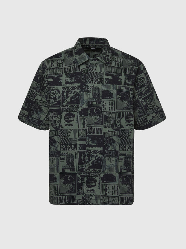 S-ROHAD-B, Black/Green - Shirts