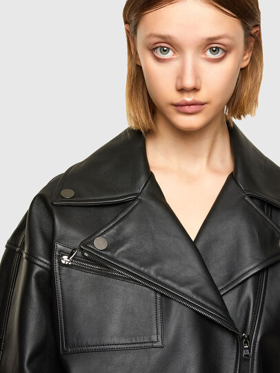 Diesel - L-HAZEL, Black - Leather jackets - Image 4