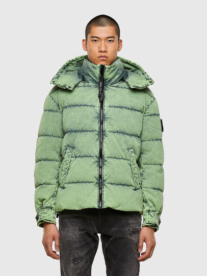 Diesel - W-EVACID, Green Fluo - Winter Jackets - Image 1