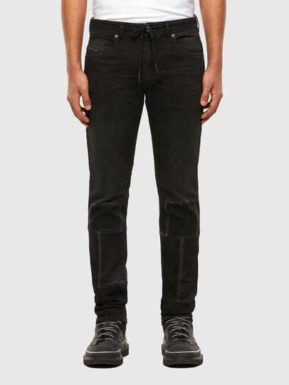 Diesel - Thommer JoggJeans 009IC, Black/Dark grey - Jeans - Image 1