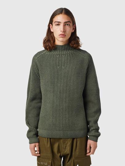Diesel - K-CLEVELAND, Military Green - Knitwear - Image 1