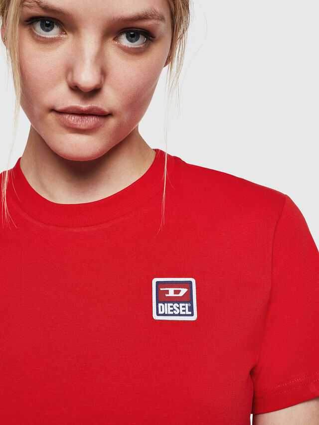Diesel - T-SILY-ZE, Fire Red - T-Shirts - Image 5
