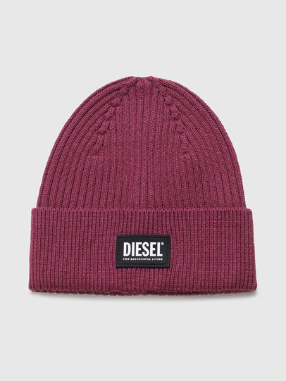Diesel - K-CODER-E 2X2, Violet - Knit caps - Image 1