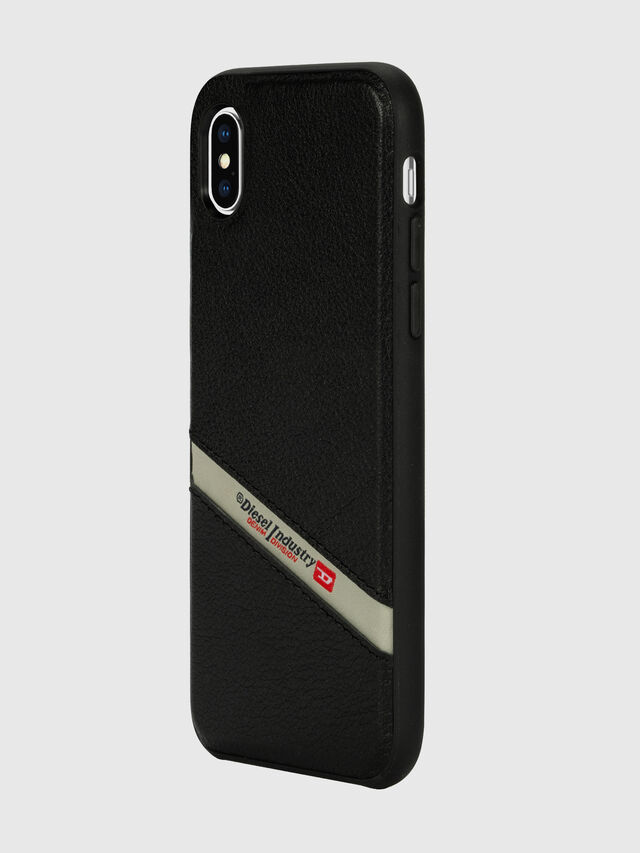 Diesel - DIESEL LEATHER CO-MOLD CASE FOR IPHONE XS MAX, Black - Cases - Image 5