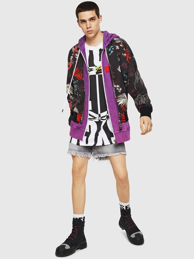 Diesel - J-NAO-PALM, Multicolor/Black - Jackets - Image 5