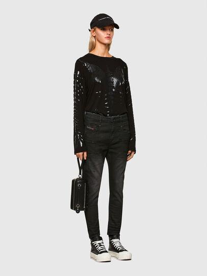 Diesel - FAYZA JoggJeans® 069QL, Black/Dark grey - Jeans - Image 6