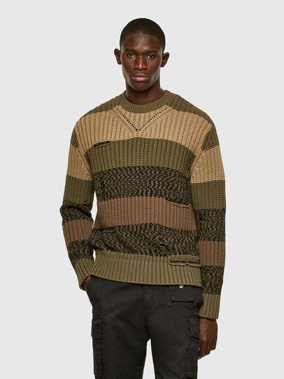 Diesel - K-COBALT, Military Green - Knitwear - Image 1