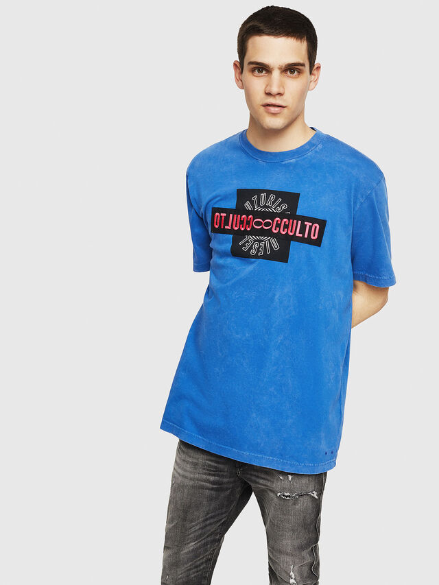 Diesel - T-JUST-Y18, Blue - T-Shirts - Image 1