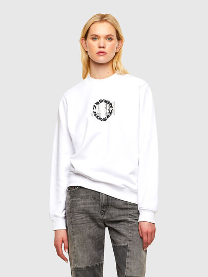 Diesel - F-ANG-R30, White - Sweaters - Image 1